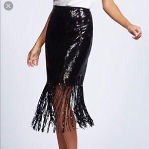 New York & Company Sequin Skirt
